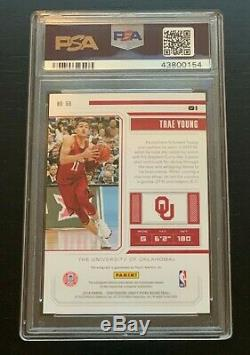 Trae Young Rookie Autograph /15 PSA 10 2018 Panini Contenders RC Auto Playoff 56
