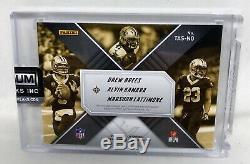 Xr NFL Logo Saints Rookie Auto Drew Brees Marshon Lattimore Alvin Kamara 1/1