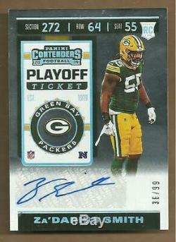 Za'darius Smith Rare Mint 2019 Contenders Playoff Ticket Rookie Autograph #36/99